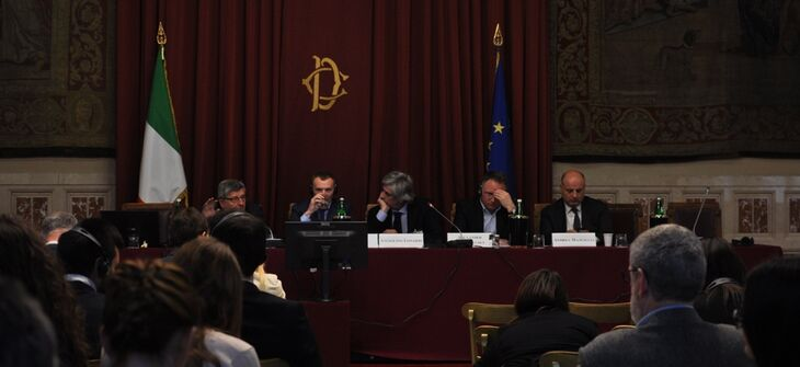 Ukrainians for the first time made a report in Sala della Regina Italian Parliament