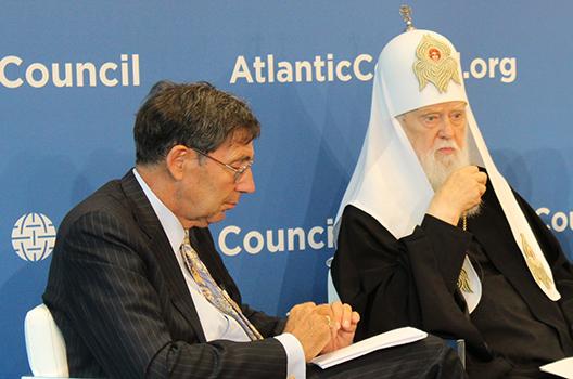 Патриарх Филарет выступил в Атлантическом совете (США)