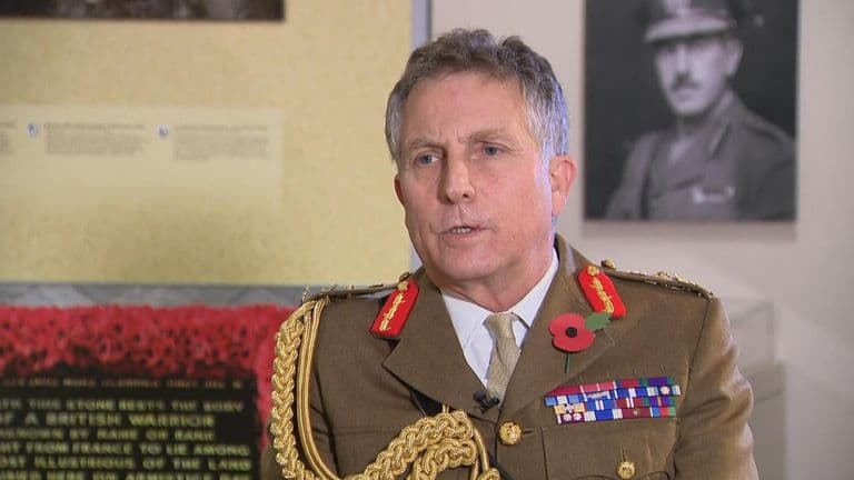 The head of the British Armed Forces warned of the possibility of world war