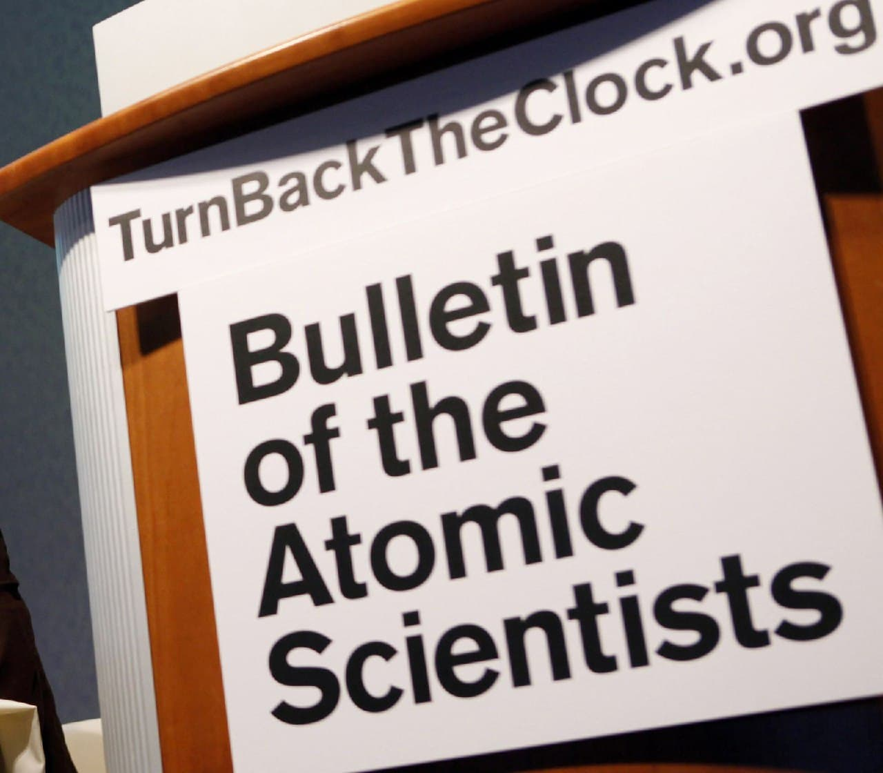 Doomsday clock hands approaching midnight again